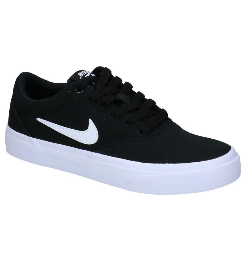 Nike SB Charge Zwarte Sneakers in stof (274610)