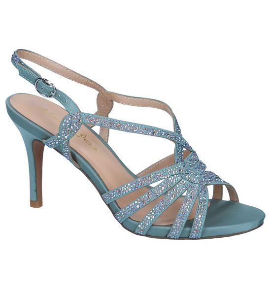 Alma en Pena Sandales à talons en Bleu clair