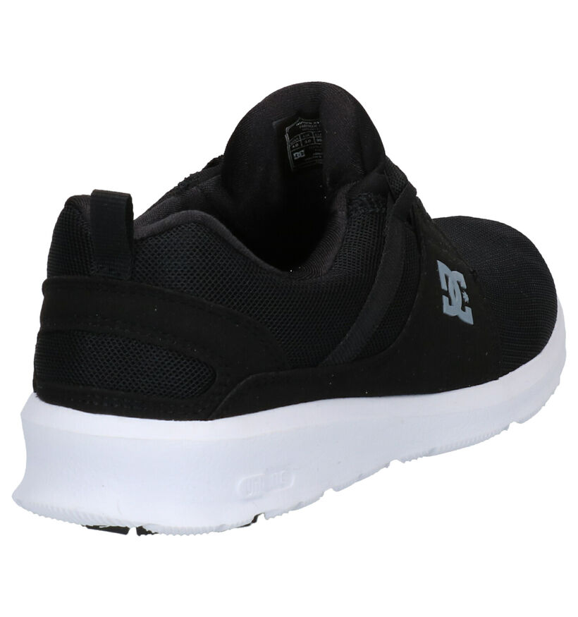 DC Shoes Heathrow Zwarte Sneakers in stof (266963)