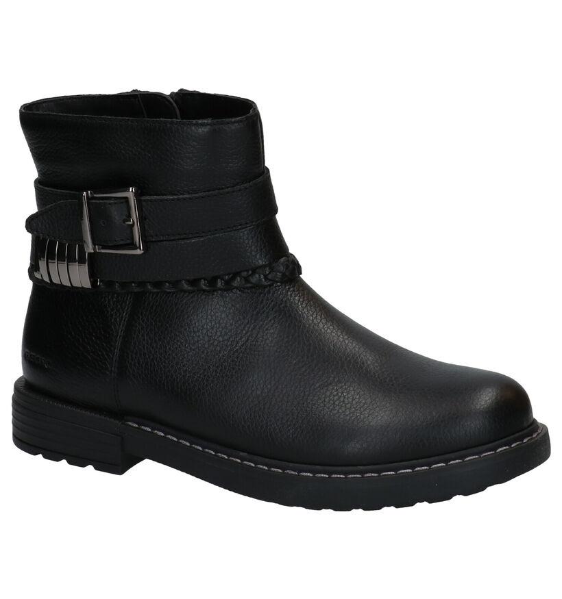 Geox Eclair Bottines en Noir en cuir (278296)