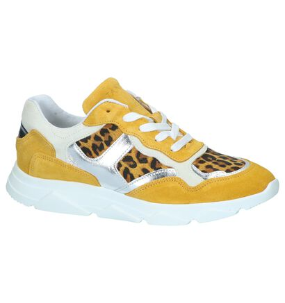 Zwarte Zebraprint Sneakers Tango Kady 1, Geel, pdp