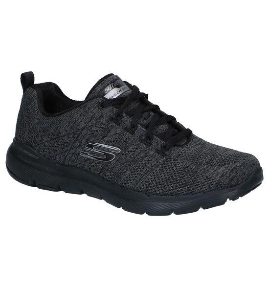 Skechers Flex Appeal Zwarte Sneakers