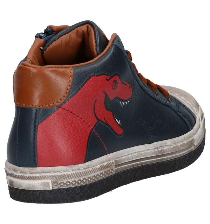 STONES and BONES Lirex Chaussures hautes en Bleu en cuir (255451)