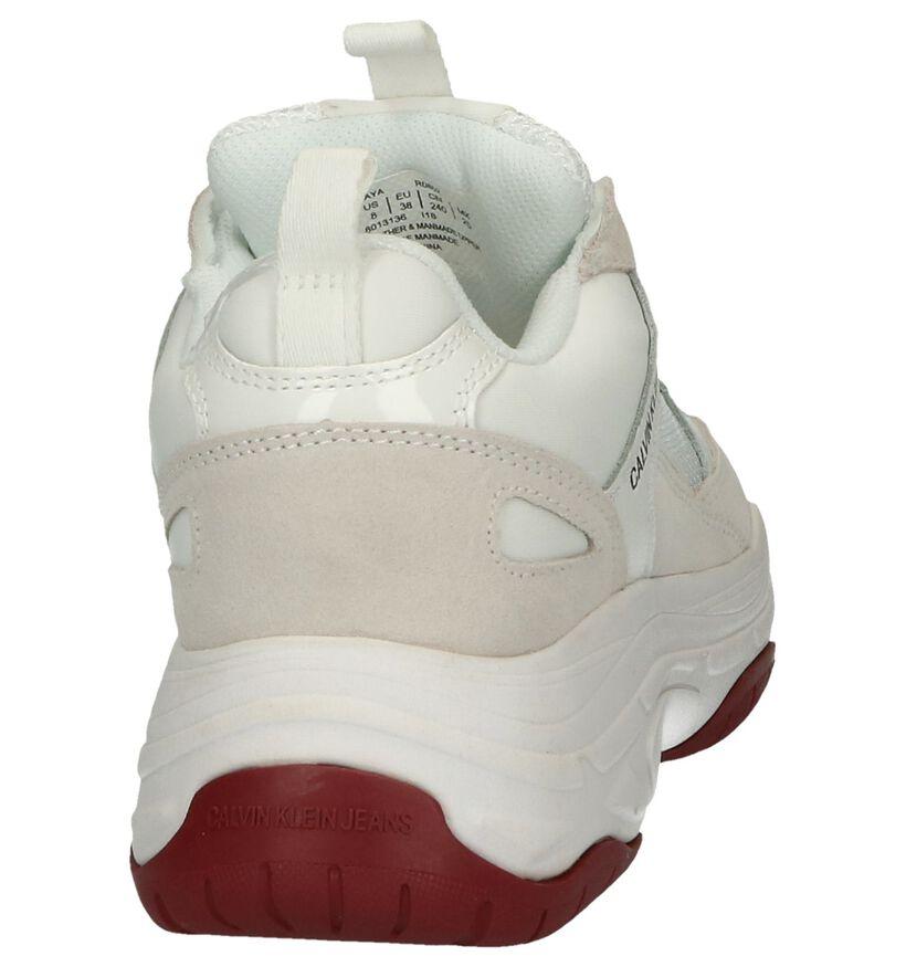 Witte Nineties Sneakers Calvin Klein Maya in daim (250386)