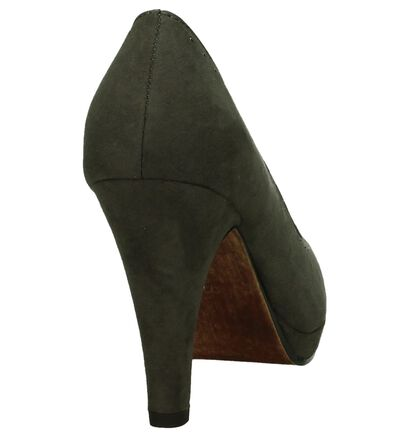 Taupe Pumps Marco Tozzi in stof (202638)