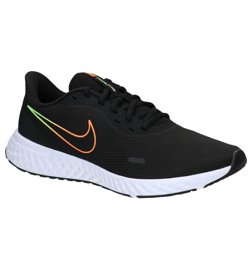 Nike Revolution Zwarte Sneakers in stof (284535)