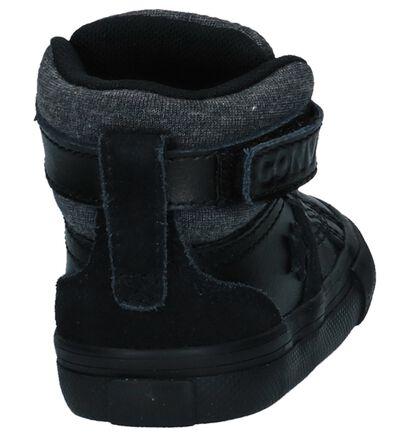 Zwarte Hoge Sneakers Converse Pro Blaze Strap Hi in leer (233384)