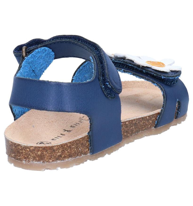 Milo & Mila Sandales en Bleu foncé en simili cuir (272269)