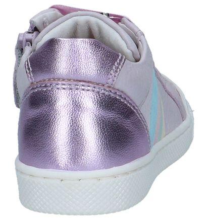 STONES and BONES Chaussures hautes en Violet clair en cuir (240717)