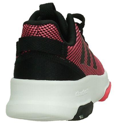 adidas Cloudfoam Racer Baskets en Rose en simili cuir (199452)