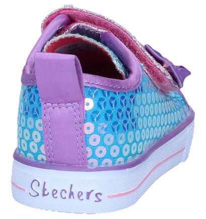 Blauwe Sneakers Skechers Shuffle Lite, Blauw, pdp
