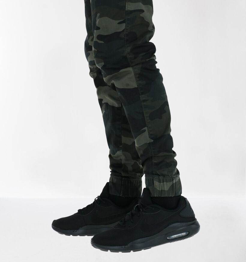Nike Air Max Oketo Zwarte Sneakers in stof (274959)