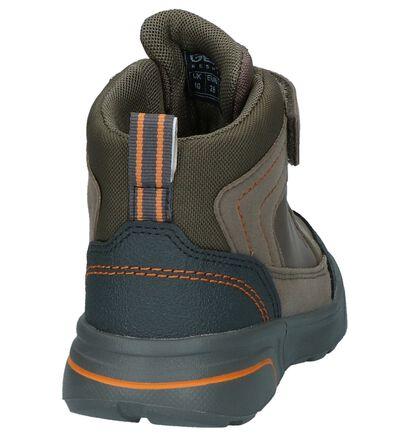 Geox Donker Blauwe Hoge Schoenen met Velcro in kunstleer (223163)