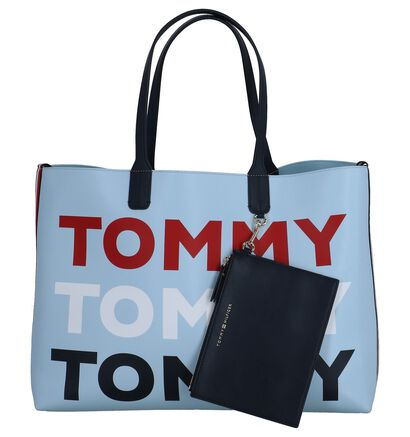 Lichtblauwe Omkeerbare Shopper Tas Tommy Hilfiger Iconic, Blauw, pdp