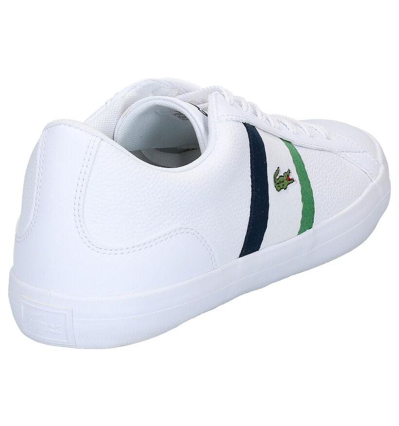 Lacoste Lerond Witte Sneakers in kunstleer (266948)
