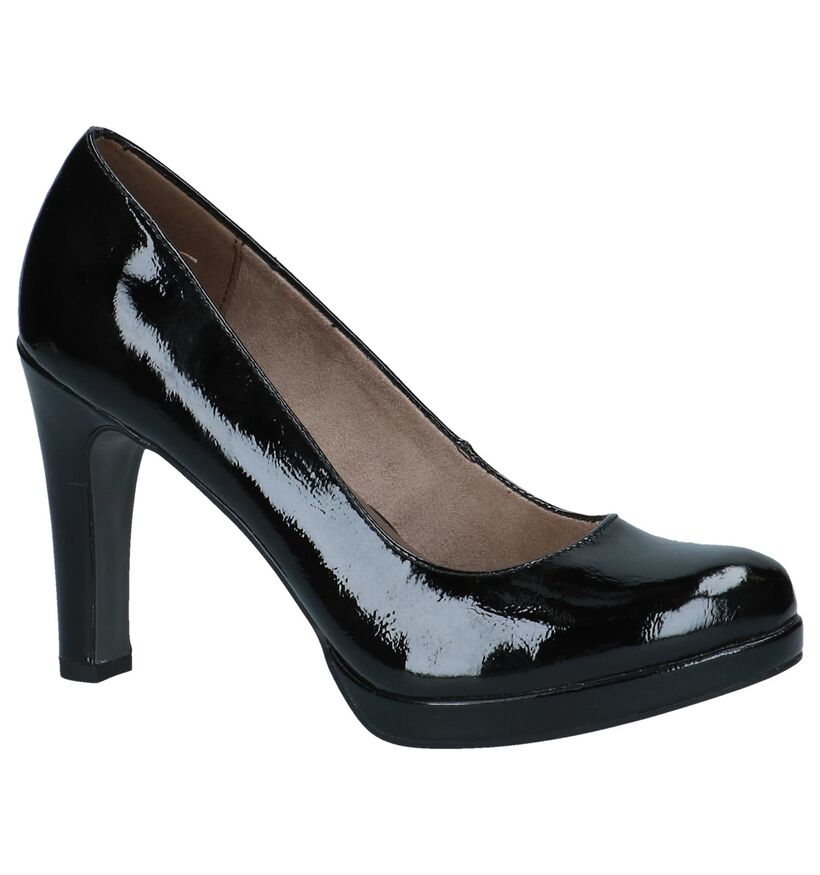 Zwarte Laké Pumps Tamaris TOUCH it in kunstleer (237697)