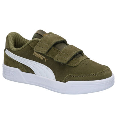 Puma Caracal Kaki Sneakers in daim (265643)