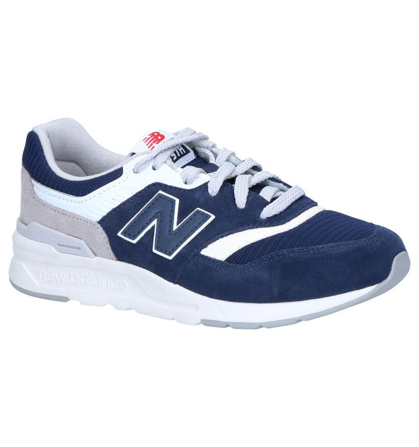 New Balance Sneakers Blauw in daim (253368)