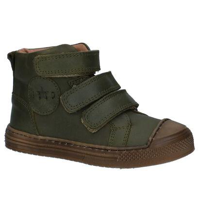 Hampton Bays Chaussures hautes en Vert kaki en cuir (224197)