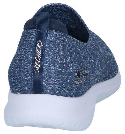 Blauwe Slip-on Sneakers Skechers Ultra Flex , Blauw, pdp