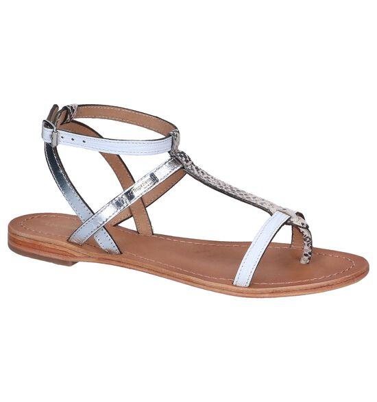 Wit/Zilveren Sandalen Les Tropeziennes Baie