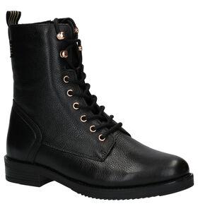 Poelman Zwarte Boots in leer (277414)
