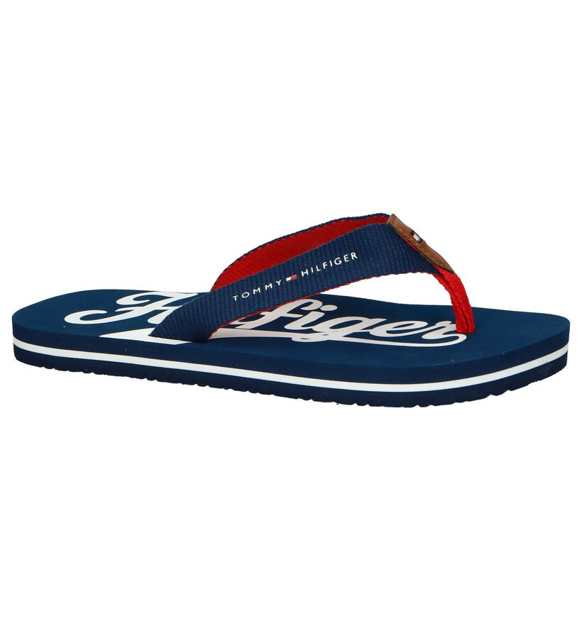 Donkerblauwe Slippers Tommy Hilfiger in stof (239567)