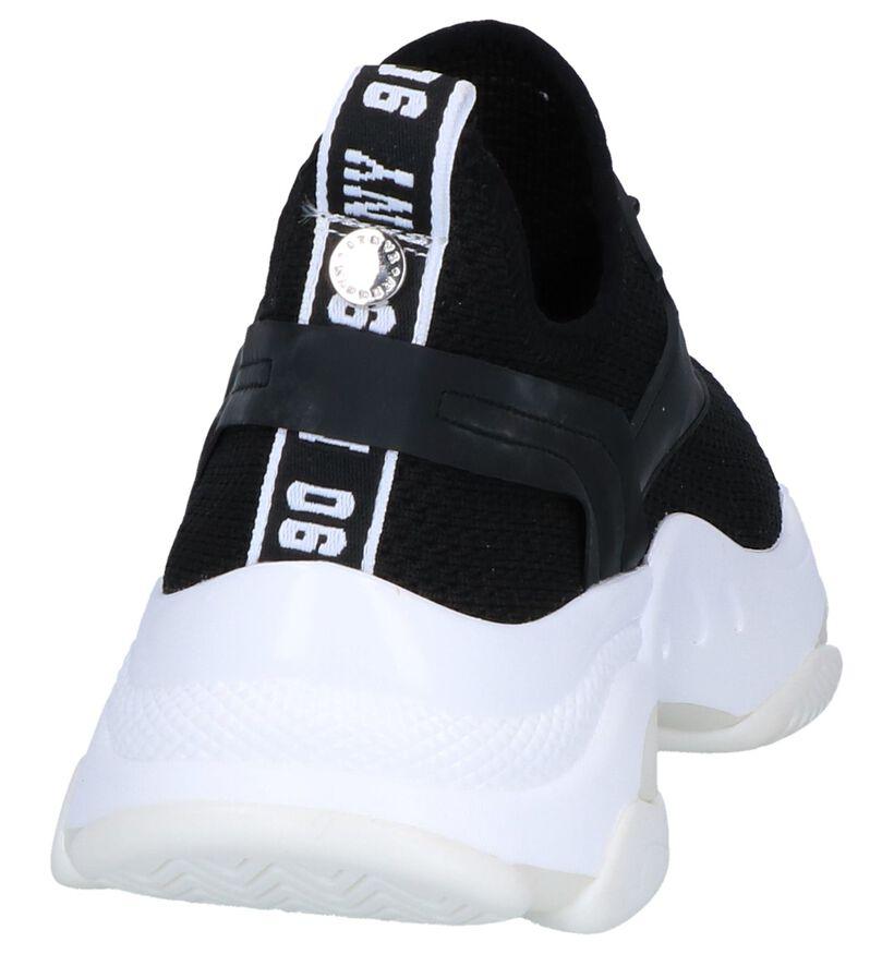 Steve Madden Match Zwarte Slip-on Sneakers in stof (256076)