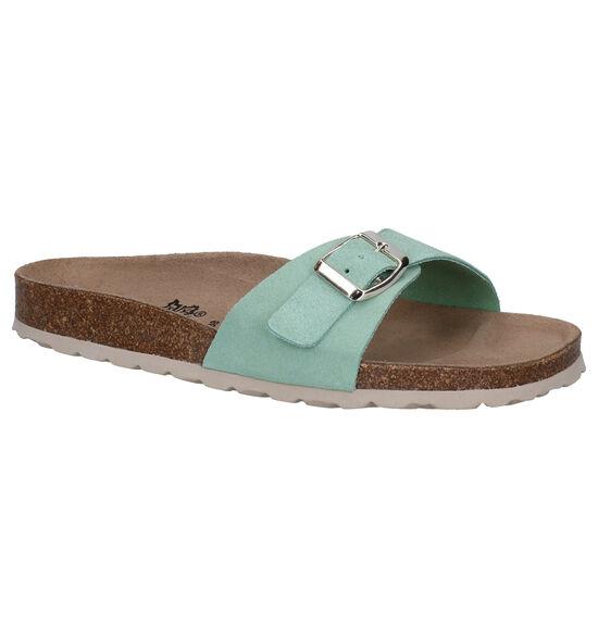 Big Leaf Groene Slippers