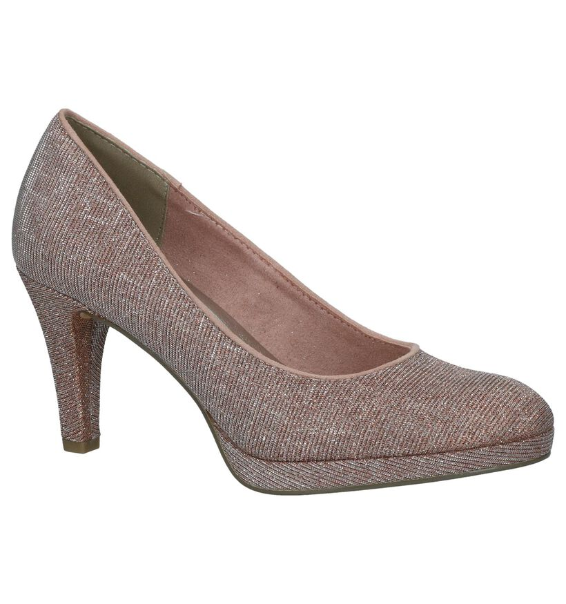 Marco Tozzi Roze Pumps in stof (238091)