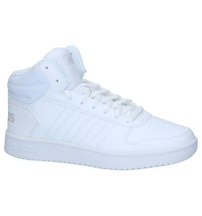 adidas Hoops 2.0 Baskets en Blanc en imitation cuir (237061)