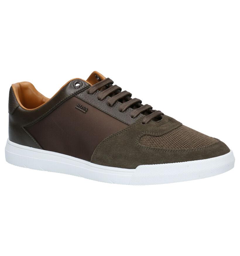 Hugo Boss Cosmo Tenn Chaussures à lacets en Vert kaki en cuir (257052)