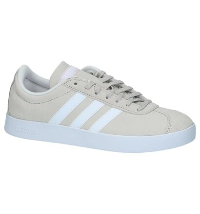 adidas VL Court 2.0 Zwarte Sneakers in daim (252577)