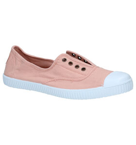 Victoria Witte Slip-on Sneakers in stof (298679)