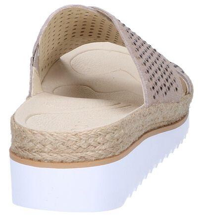 Gabor Best Fitting Nu-pieds à talons en Taupe en nubuck (245586)