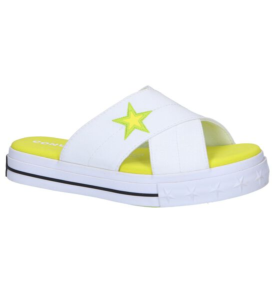 Witte Slippers Converse One Star Sandal