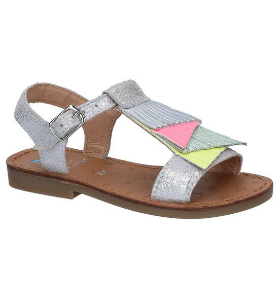 Shoo Pom Happy Fals Zilveren Sandalen