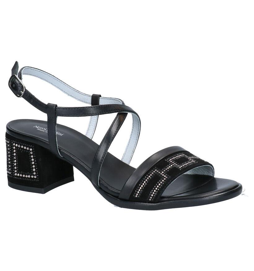 NeroGiardini Sandales à talons en Noir en cuir (270567)
