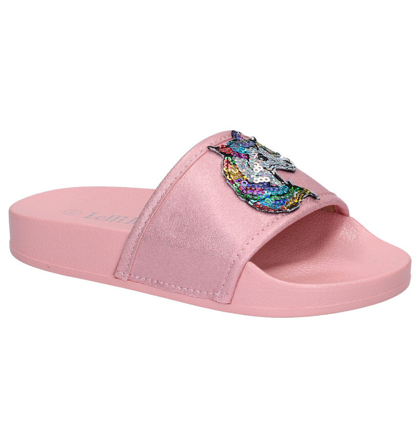 Lelli Kelly Roze Slippers in kunstleer (275273)