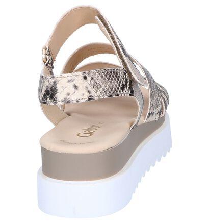 Sandalen met Crocoprint Gabor Best Fitting in kunstleer (248113)