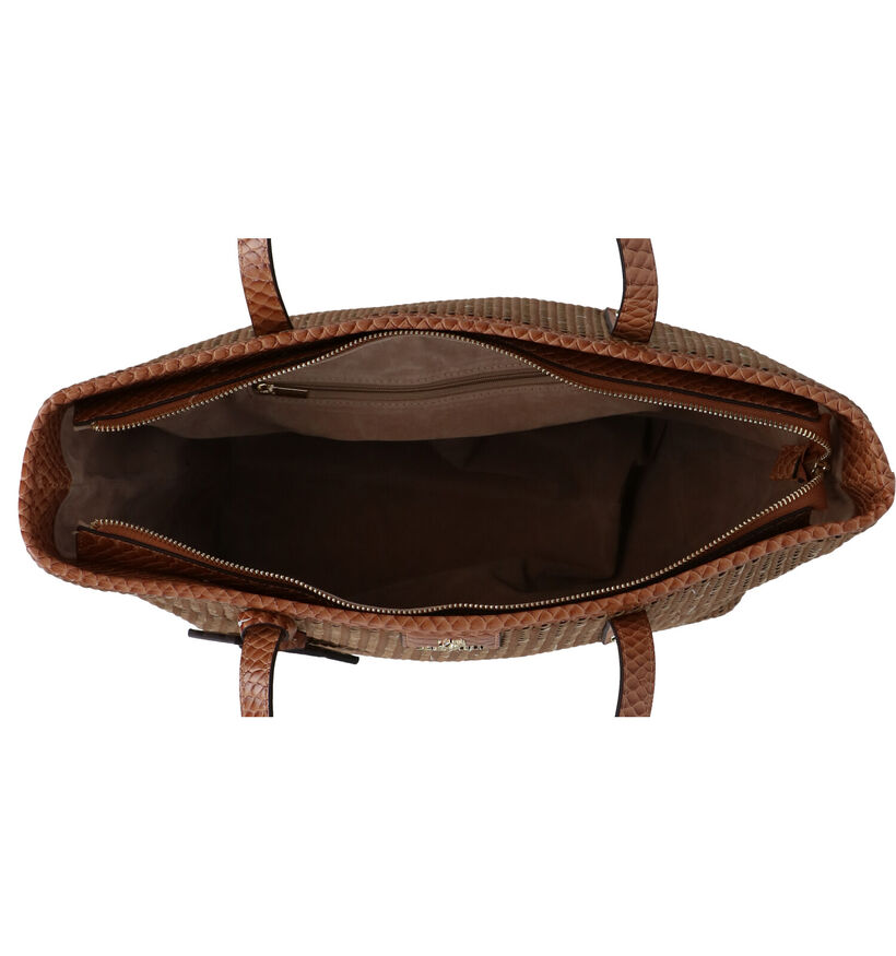 Aca Jou Catalpa Cabas en Cognac en simili cuir (272919)