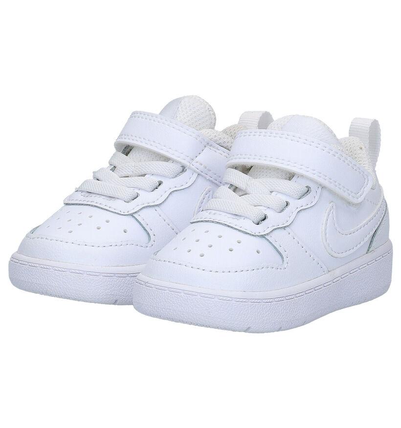Nike Court Borough Low Witte Sneakers in kunstleer (261644)