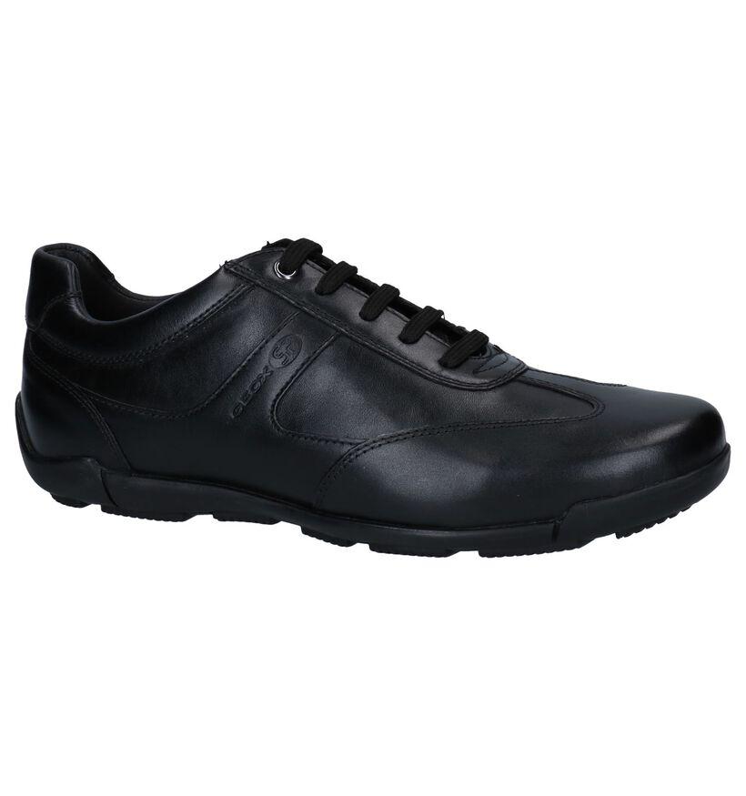 Geox Chaussures basses en Noir en cuir (251614)