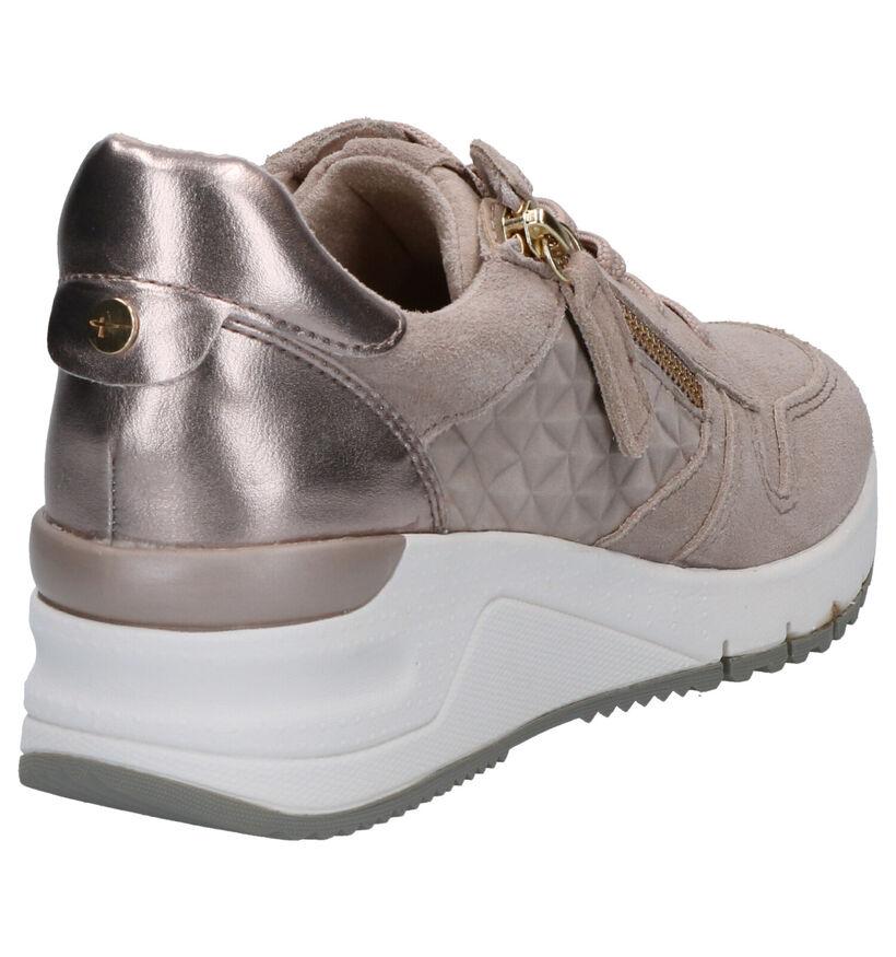 Tamaris Chaussures à lacets en Bleu foncé en daim (265685)