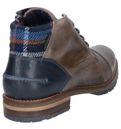 Bullboxer Chaussures hautes en Gris en cuir (260597)