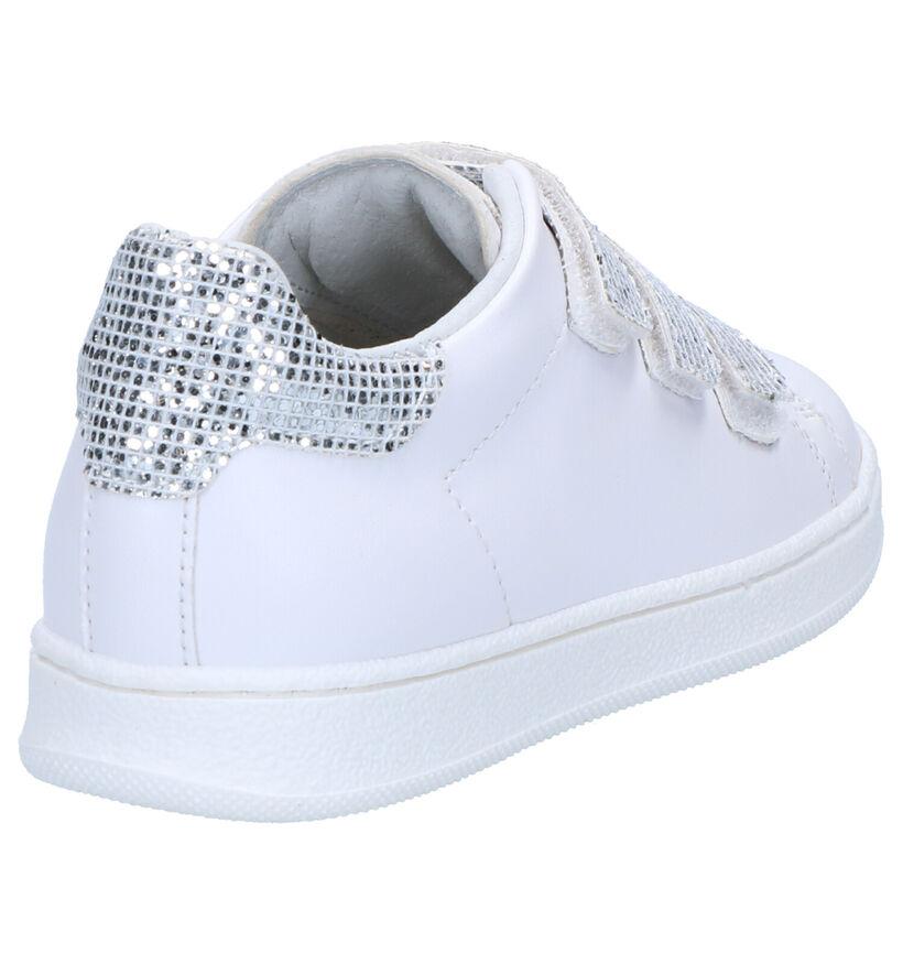 K3 Witte Velcroschoenen in kunstleer (266226)