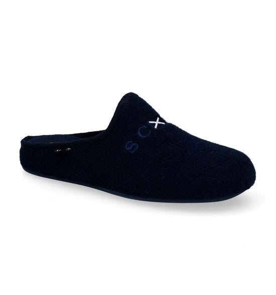 Scapa Pantoufles ouvertes en Bleu foncé