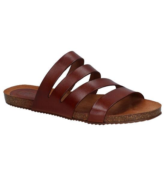 Hee Cognac Slippers