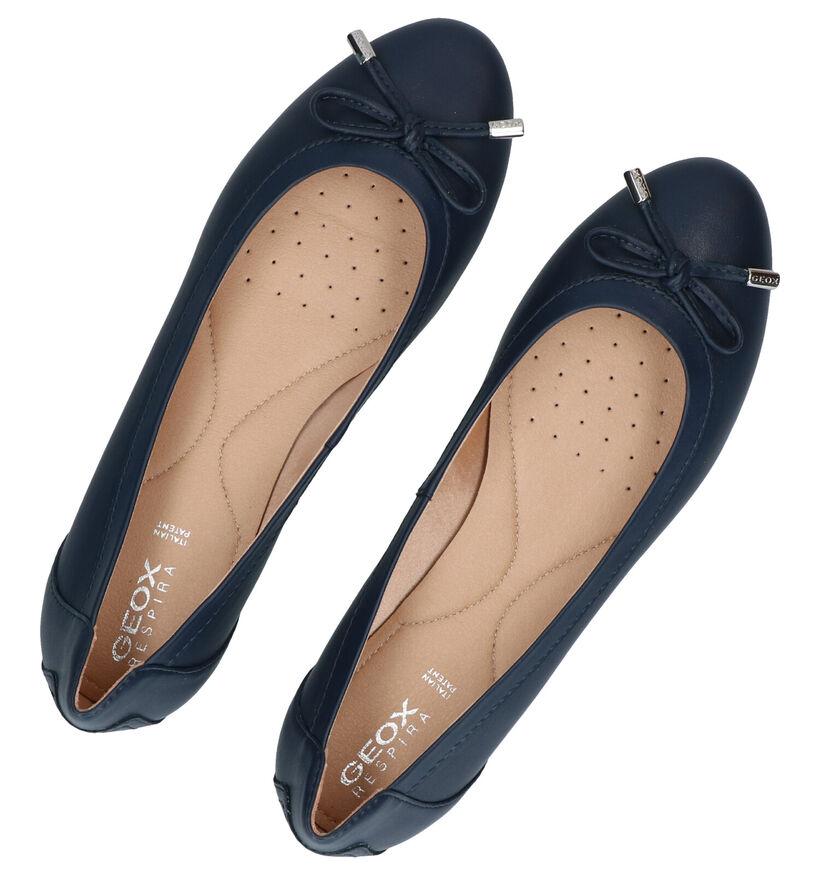 Geox Charlene Blauwe Ballerina's in kunstleer (285654)