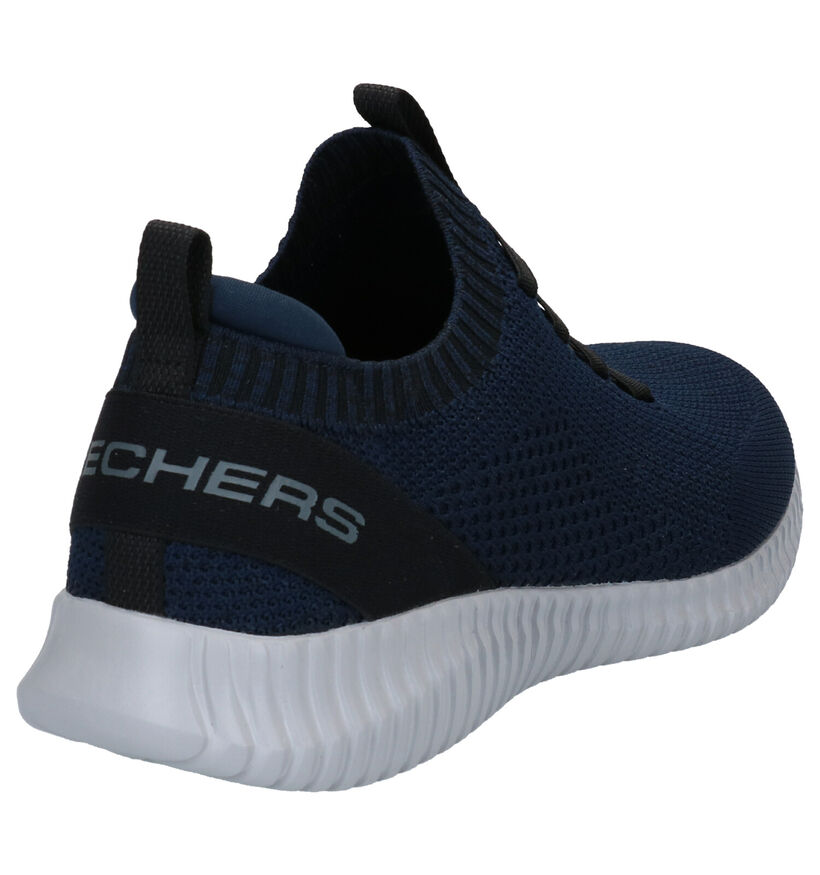 Skechers Elite Flex Zwarte Sneakers in stof (287105)